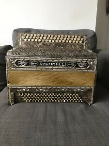Ancien Accordeon Scandalli Art Deco Italie Collection