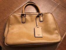Giorgio Armani Light Tan Briefcase Laptop Case