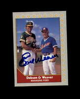 Earl Weaver Hand Signed 1990 Pacific Senior League Gold Coast Suns Autograph