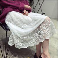Women Lace Dress Extender Camisole Tank Slip Top Trim Layer Bottom Dress hot