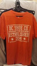 OFFICIAL DC SHOES FIRE SCROLL T SHIRT SIZE LARGE NEW SKATEBOARDING