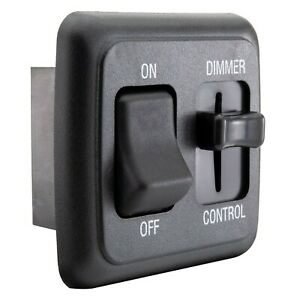 RV Light Switch 12V DC with High Side Dimmer Slider Compatible with LEDs