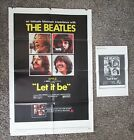 Beatles RARE 1970 ORIGINAL U.S. ' LET IT BE ' 1 SHEET MOVIE POSTER & PRESS BOOK!