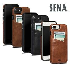 Sena Lugano Snap On Cartera Funda para Apple IPHONE 7/8 Plus Cuero Tarjetero