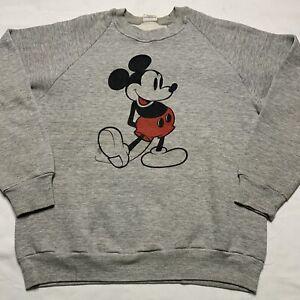 Vintage 80s Disney Mickey Mouse Raglan Creqnwck Sweatshirt Size M