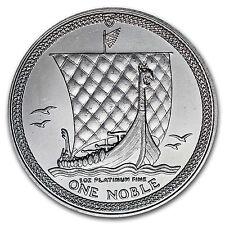 1987 Isle of Man 1 oz Platinum Noble BU - SKU #70272