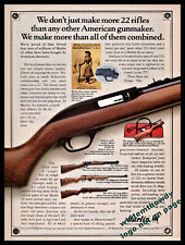 1992 MARLIN Model 60 w/39TDS 882L and 25N .22 Rifle Vintage Photo AD