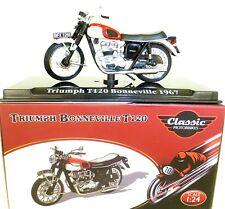 TRIUMPH BONNEVILLE T120 1967 MOTO CLASSIC Atlas 4658101 NUEVO 1:24 emb.orig HD2