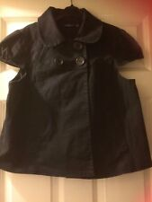 Atmosphere black lined s/ sleeve cotton jacket size 14,4 front buttons,2 pockets
