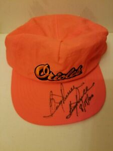 Vtg Boog Powell Signed Orioles Hat Cap Breyer's SGA