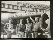 Led Zeppelin Authentic Jet Poster All 4 Signatures *See Detailed Description