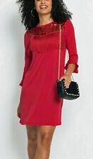 Stretch vestido de noche vestido de cóctel rojo talla 40/42 + 44/46 952600 nuevo