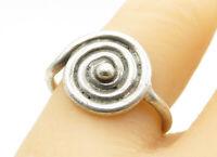 925 Sterling Silver - Vintage Smooth Spiral Designed Band Ring Sz 7 - R12180