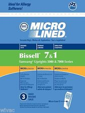 Bissell Vacuum Bags 1 & 7 Samsung Upright 5000 7000 Series Microlined (3pk)