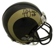 Marshall Faulk Autographed/Signed Los Angeles Rams Riddell Mini Helmet BAS 22753