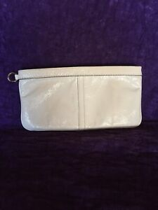 Coach Wristlet Purse White Clutch Used Authentic