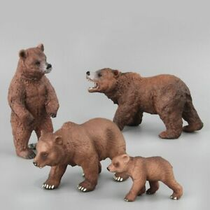 Simulation Wild Life Bears Toys Kids Animal Action Figures Home Decor Collection