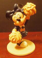 """Dwd Disney World Minnie Mouse with Pom Poms 4-1/2"""" Vintage Figurine 1990's"""
