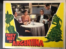 GENUINE VINTAGE 1941 'THEY MET IN ARGENTINA' LOBBY CARD