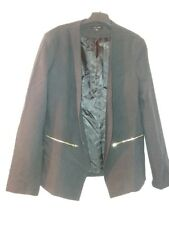 NEW LOOK LADIES SMART BLACK BLAZER SIZE 14, IDEA FOR WORK, OFFICE, CASUAL