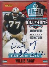 2012 Panini Black Friday Willie Roaf Class of 2012 HOF Autograph