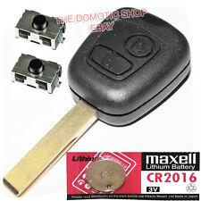 LLAVE PEUGEOT + 2 INTERRUPTORES 207 307 406 407 806 FUNDA CARCASA + PILA CR2016