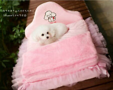 Dog Bed Puppy Kennel Cat Sofa House Cushion Sweety Princess Lace Mat Cozy Warm