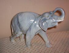 Vintage Ceramic Elephant Figurine Statue ~ Made In Czechoslovakia