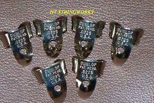 Banjo Parts Dunlop Finger Picks .0225 Nickel (6) ~New~ ~Free Shipping To U.S.A.~