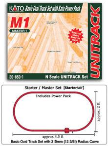 kato  20-850-1 N  M1 BASIC OVAL SET W/ 110V KATO POWERPACK   (1)