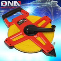 330 FT 100M ACCURATE DIELECTRIC FIBERGLASS REINFORCED OPEN REEL MEASURING TAPE