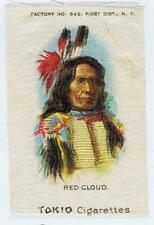 Red Cloud Chief Indian Portraits Native American S67 cigarette silk 216