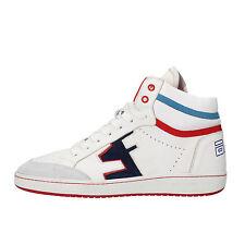 scarpe uomo SERAFINI 42 EU sneakers bianco pelle camoscio AF877-B