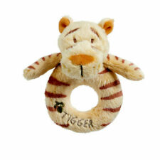 Disney Classic Winnie The Pooh Hundred Acre Wood Tigger Plush Baby Ring Rattle