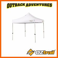 OZTRAIL COMMERCIAL DELUXE 2.4m GAZEBO WHITE 500 DENIER NEW MODEL