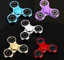 Wholesale 10 PACK Chrome Look Fidget Hand Tri-Spinner Finger Toys Kid EDC Games