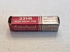 Esterbrook Fountain Pen Nib - 2314 B Relief Broad Stub New in Box + Nib Chart