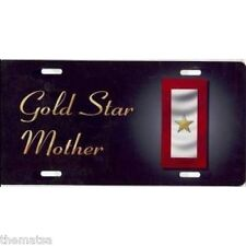 GOLD STAR MOTHER AUTO TAG CAR METAL MOM MADE IN USA MILITARY LICENSE PLATE