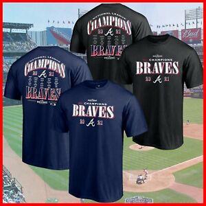 SALE - Atlanta Braves 2021 National League Champions Bloop Single Roster T-Shirt