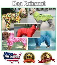 Raincoat Clothes Pet Dog Hooded Waterproof Raincoats Jacket Apparels Polyester