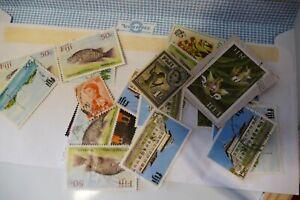 17 Fiji Fijian postage stamps philately philatelic postal kiloware
