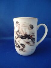 "Vintage Norman Rockwell ""No Swimming"" Mug - 1921 The Saturday Evening Post"