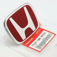 Honda Civic FD2 Type R Si REAR EMBLEM JDM Red Genuine OEM 75701-SNW-003ZC Badge