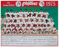 MLB 1975 Philadelphia Phillies Color Team Picture 8 X 10 Photo Picture