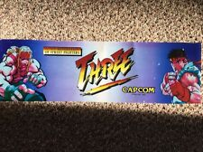 "Capcom Three Arcade Marquee Translite 25"" X 8"" New Generation Of Street Fighters"