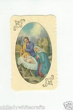 Holy Bible Prayer Card , Die Cut  Printed In Italy, Linen Texture
