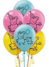 Peppa Pig Party Supplies LATEX BALLOONS Pack Of 6 Helium QualityGenuine Licensed