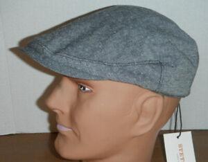 STETSON linen cotton blend driving Cap hat grey MEDIUM