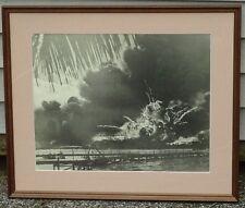"RARE Original WWII Pearl Harbor Very Large Photograph, ""USS Shaw"", circa 1941"