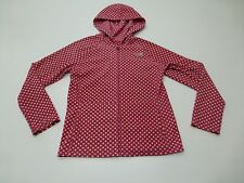 The North Face Girls Size XL (18) Pink Polka Dot Fleece Jacket Great Condition